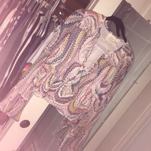 Psychedelic Bohemian Bell Sleeved Blouse 👚